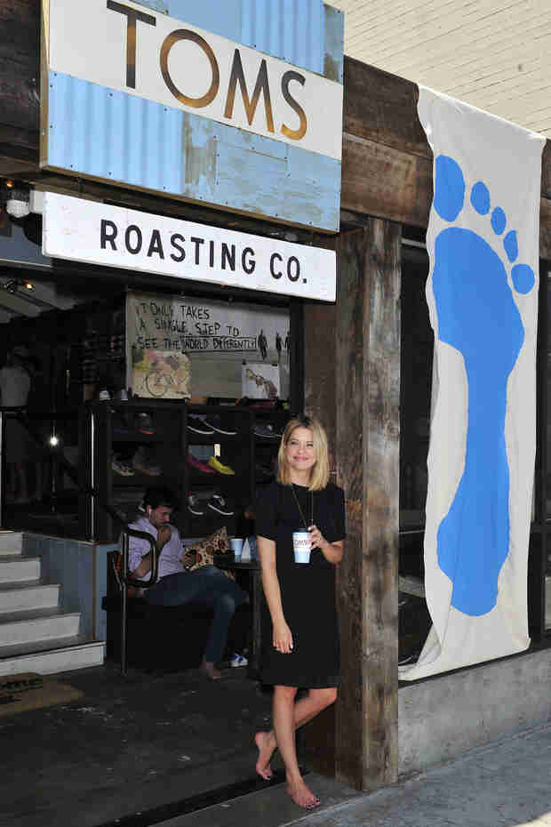 Ashley Benson Goes Barefoot For TOMS One Day Without Shoes Event (PHOTO)