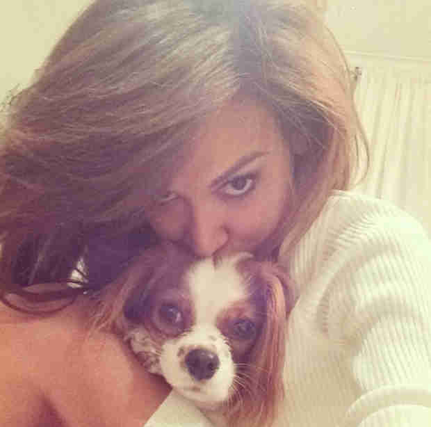Naya Rivera Gets Cuddly — With Her Dog Lucy! (PHOTO)