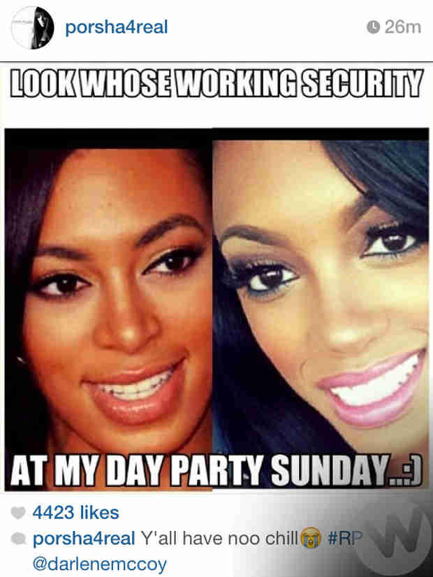 Porsha Stewart Shares Her Own Version of the Solange & Jay Z Meme (PHOTO)