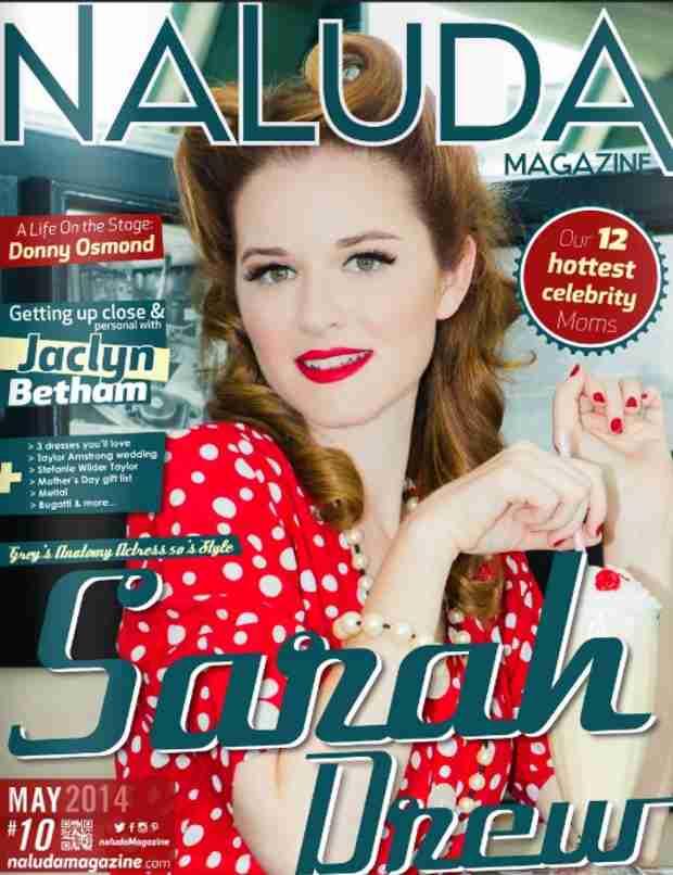 Grey's Anatomy Sarah Drew Channels '50s Glam on Naluda Magazine Cover