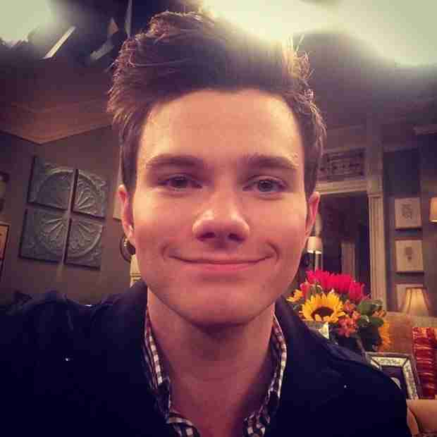 See Glee Star Chris Colfer on the Set of Hot In Cleveland (PHOTOS)