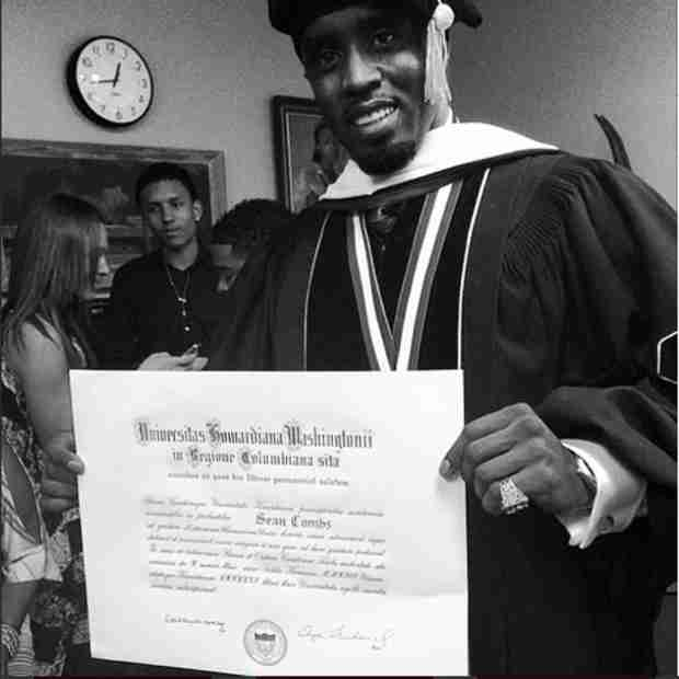 Diddy Receives Honorary Doctorate Degree From Howard University — See His Speech! (PHOTO)
