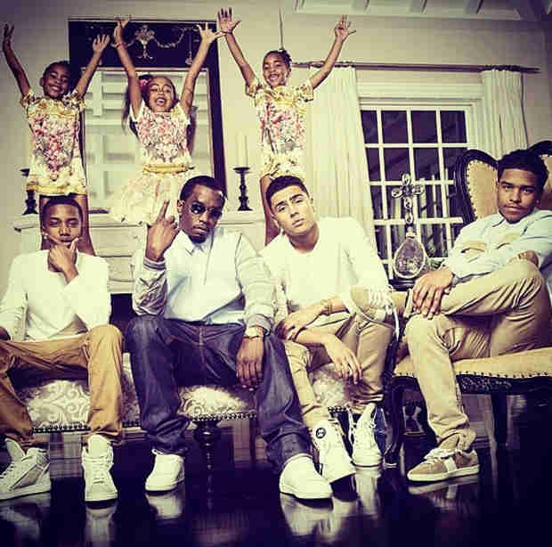 P. Diddy Shares Family Photo — See All Six of His Kids!