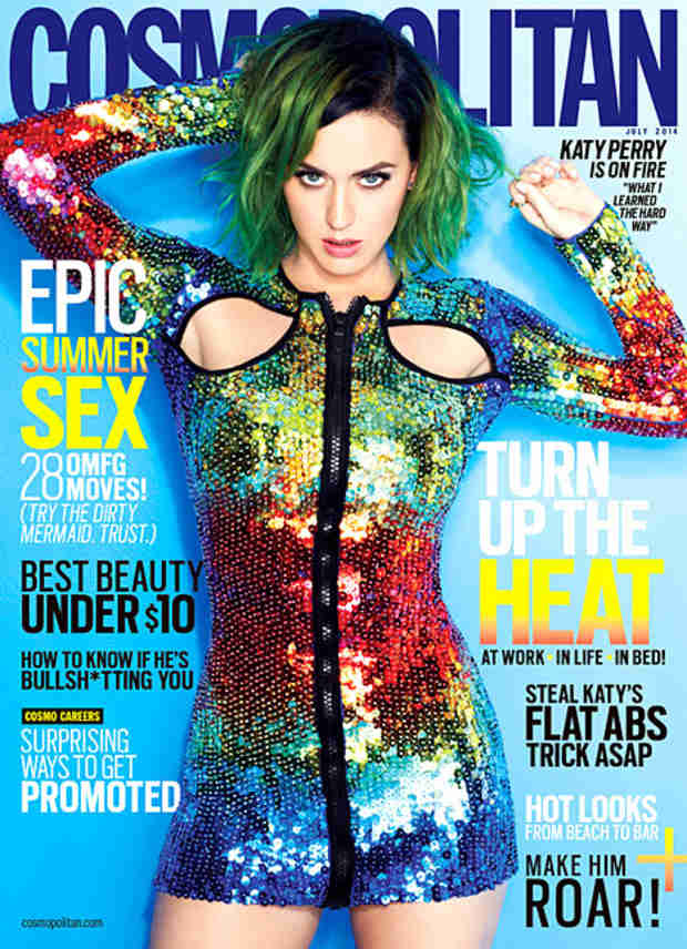 Katy Perry Graces July Cover of All 62 International Editions of Cosmopolitan (VIDEO)
