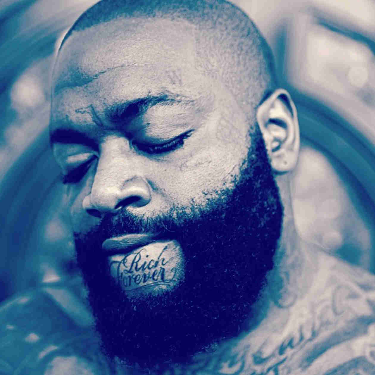 """Rick Ross Tattoos """"Rich Forever"""" On His Chin — Love It or Hate It? (PHOTO)"""