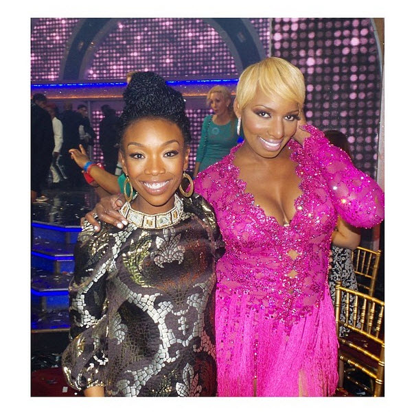 """Brandy Shows Support For """"Her Girl"""" NeNe Leakes at DWTS — Are They Friends? (PHOTO)"""