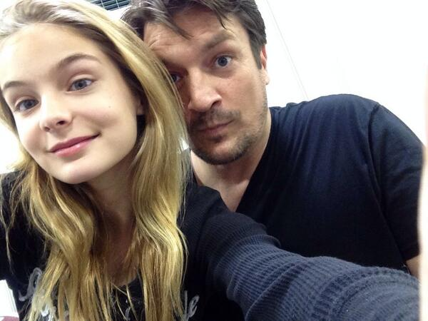 The Walking Dead: Brighton Sharbino Gets Cute With Nathan Fillion, Michael Rooker (PHOTOS, VIDEO)