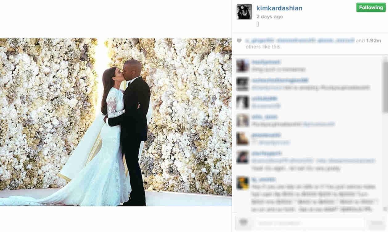 "Kim Kardashian's Wedding Pic Breaks Instagram's ""Most Likes"" Record (VIDEO)"