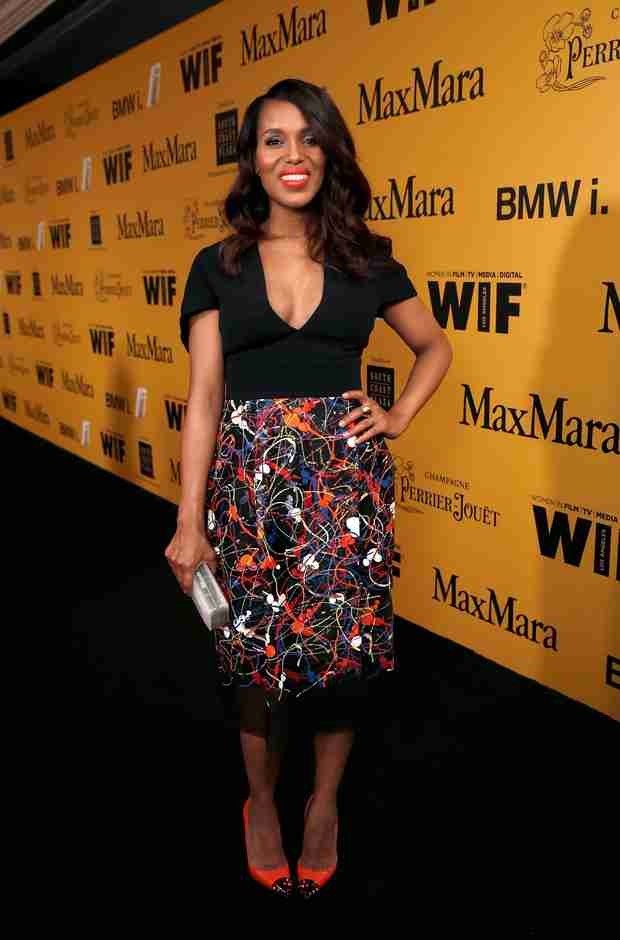 "Kerry Washington Makes First Public Appearance Post-Baby, Admits She's ""Nervous"" (PHOTO)"