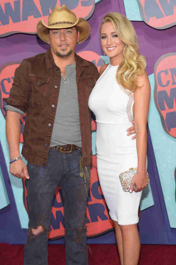 Jason Aldean Steps Out With Former Mistress Brittany Kerr at the 2014 CMT Awards (PHOTO)