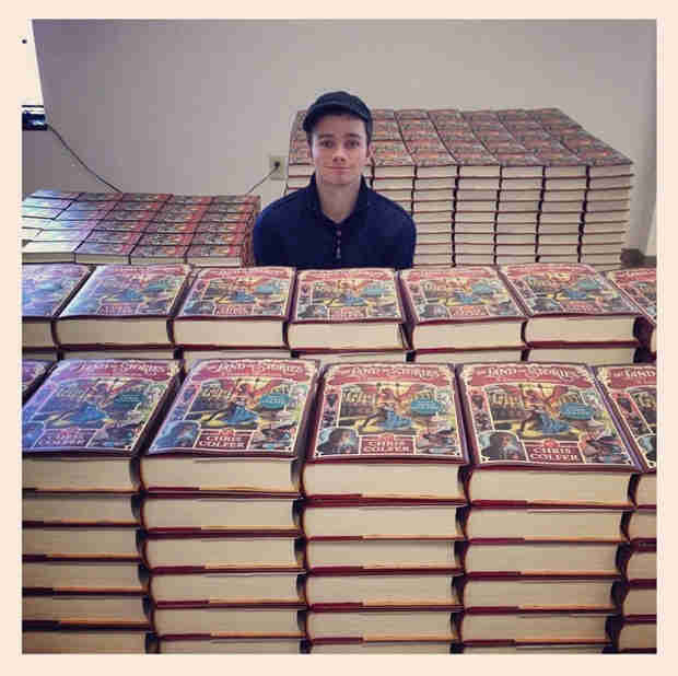 Chris Colfer Signs 3,000 Copies of His Latest Book, The Land of Stories 3
