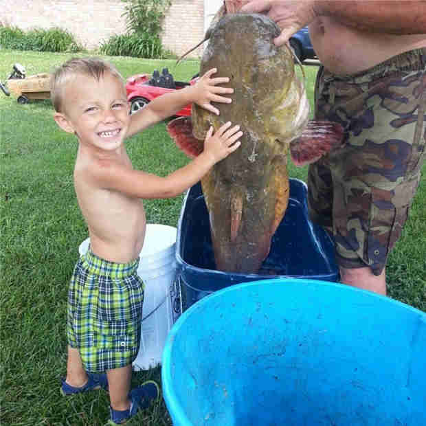 Mackenzie Douthit's Son Gannon Shows Off His Catch of the Day (PHOTO)