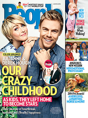 "Derek and Julianne Hough on People Magazine Cover! Inside Their ""Crazy Childhood"" (VIDEO)"