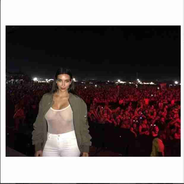 Kim Kardashian Supports Kanye West at Bonnaroo in Skimpy Outfit (PHOTO)