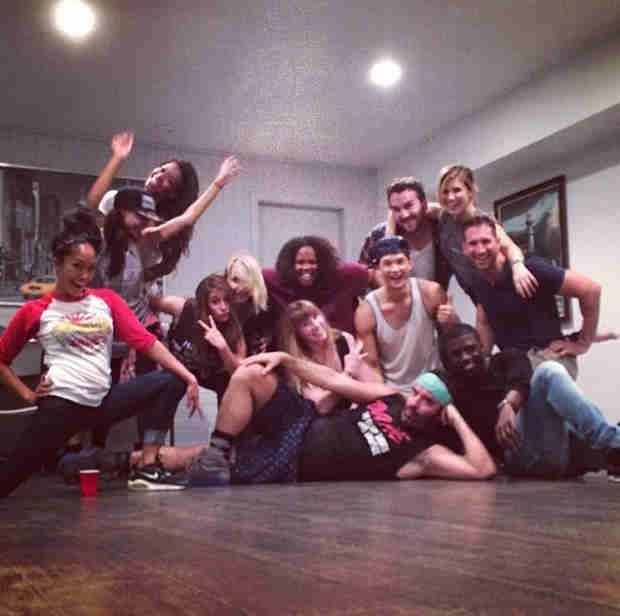 Glee Cast Hangs Out With Sophia Bush at Harry Shum Jr.'s Dance Studio! (PHOTO)