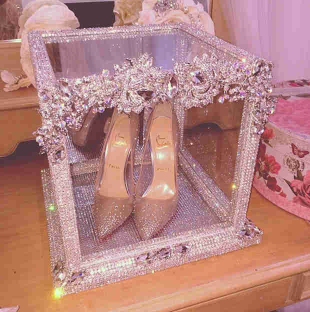 Check Out Kandi Burruss's Over-the-Top, Blinged-Out Wedding Shoes! (PHOTO)