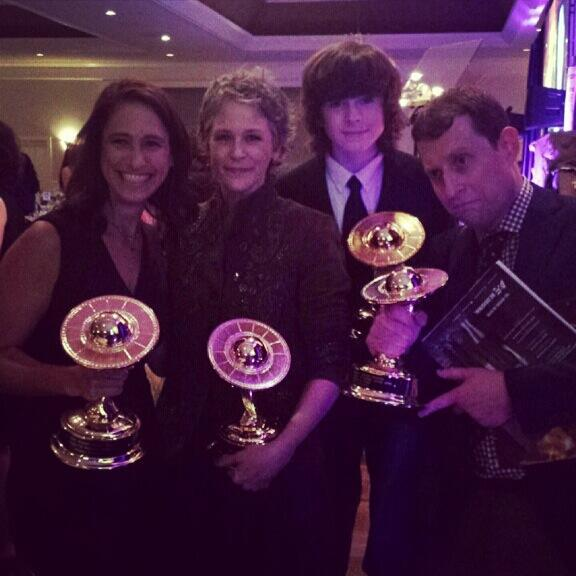 The Walking Dead, Melissa McBride, Chandler Riggs Win 2014 Saturn Awards! (PHOTOS)