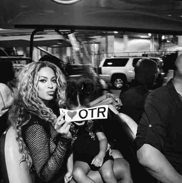 How Blue Ivy Rolls on Beyoncé and Jay Z's On the Run Tour (PHOTO)