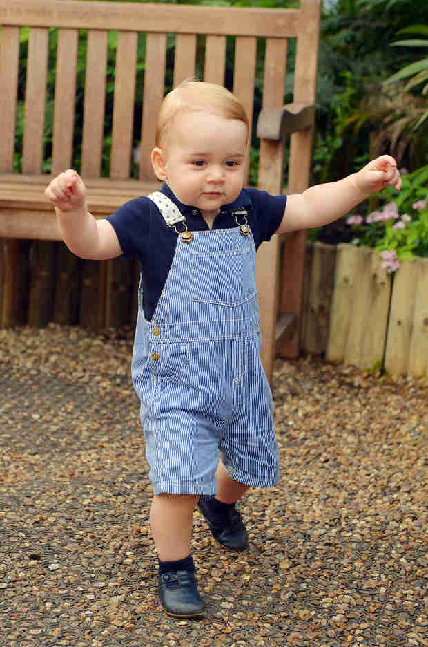 Prince George Toddles Into His First Birthday — See Him Walk! (PHOTO)