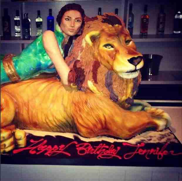 Jennifer Lopez's Huge Birthday Cake is Super Extravagant (And a Little Weird)