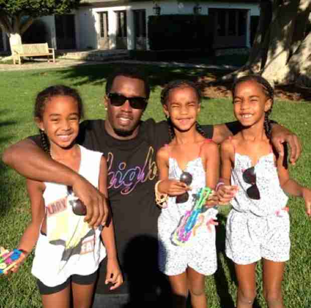 "P. Diddy Shares Sweet Photo With His Three Daughters — ""#MyAngels"""