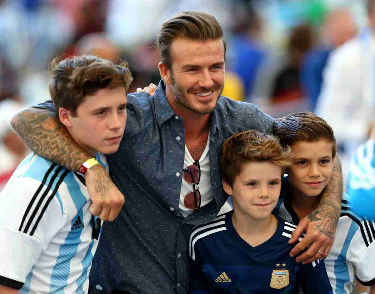 David Beckham and His Sons Attend 2014 FIFA World Cup — They're So Big! (PHOTO)
