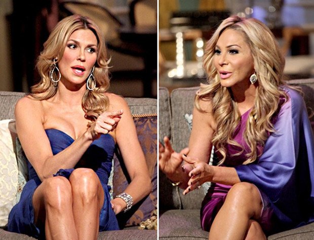 Brandi Glanville and Adrienne Maloof Hug After Grabbing Lunch — What Feud?