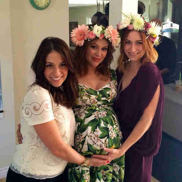 Pregnant Alyssa Milano Celebrates Her Baby Shower — See How Big Her Belly Is! (PHOTO)