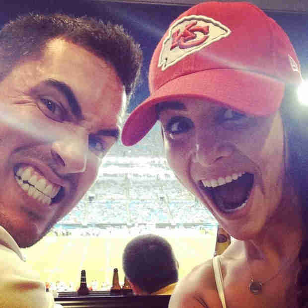 Andi Dorfman Does In-Law Duty, Attends Aaron Murray's NFL Game With Fiancé Josh! (PHOTOS)