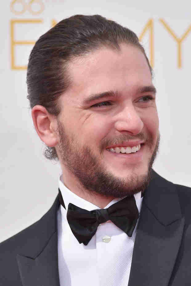 Kit Harington Rocks Man Bun at Emmys — Hot or Not? (PHOTO)