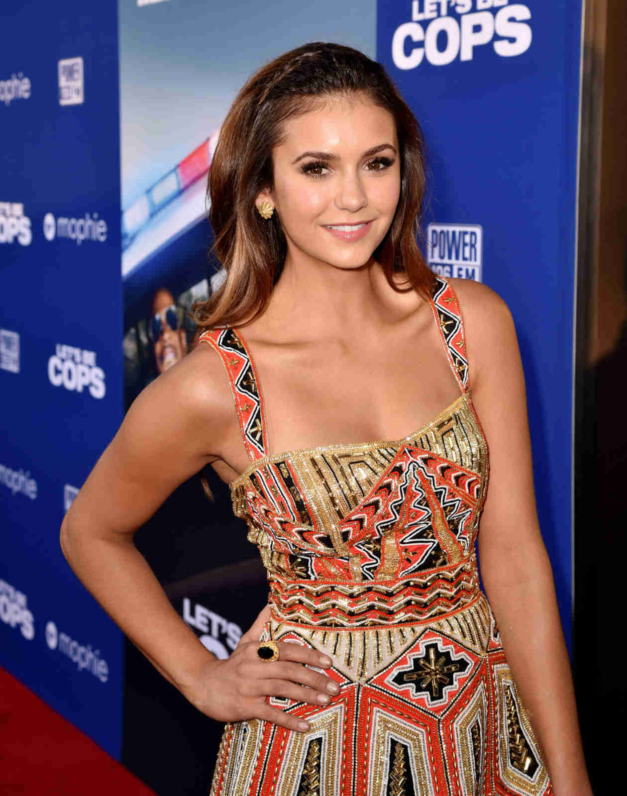 "Nina Dobrev on Dating a Police Officer: ""I Thought He Was Going to Arrest Me"""