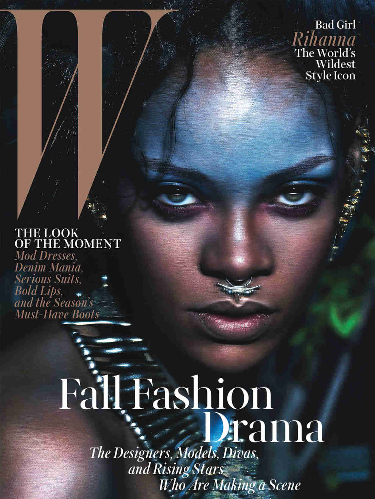 """Rihanna Is a """"Wild Child"""" on W Magazine Cover — See Her Exotic Look (PHOTO)"""