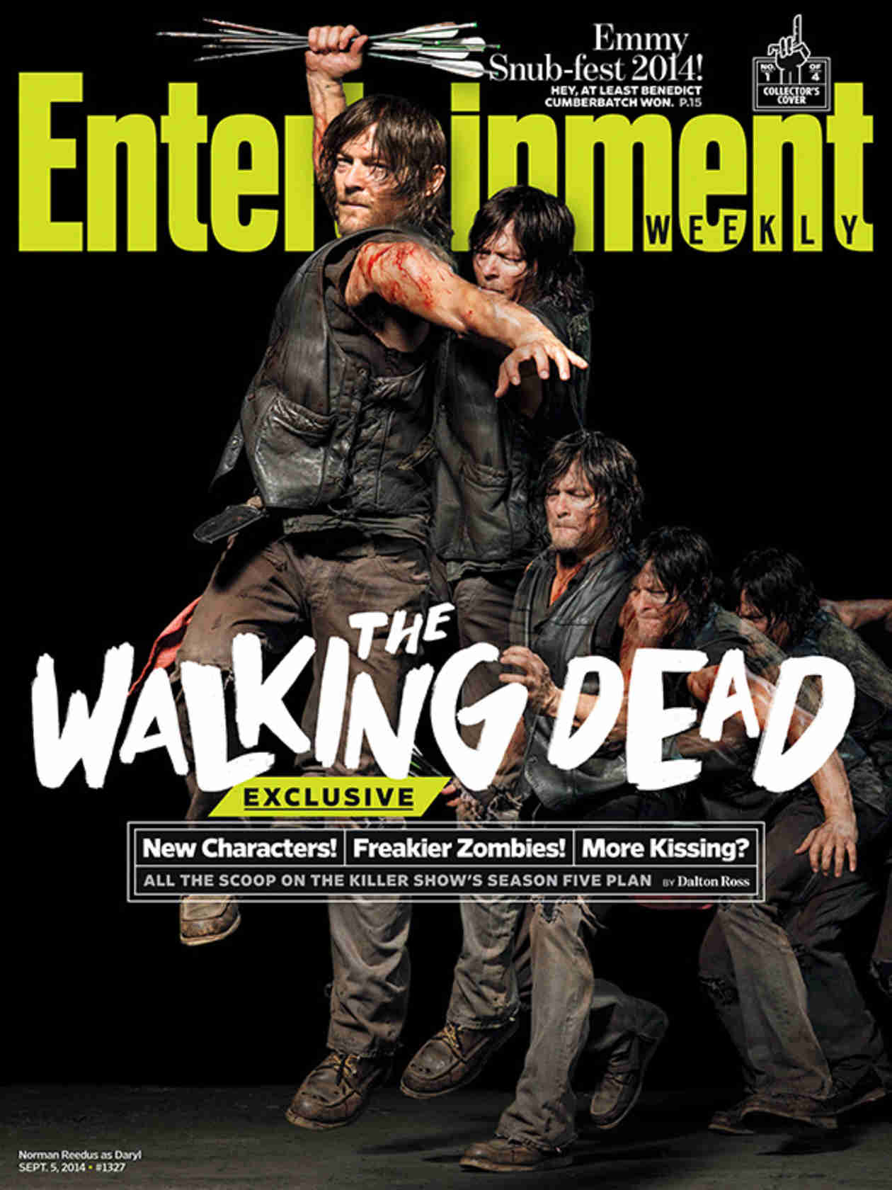 """The Walking Dead Season 5 Is """"Grown-Up"""" — See Characters Beaten and Bloody on Entertainment Weekly Covers (PHOTOS)"""