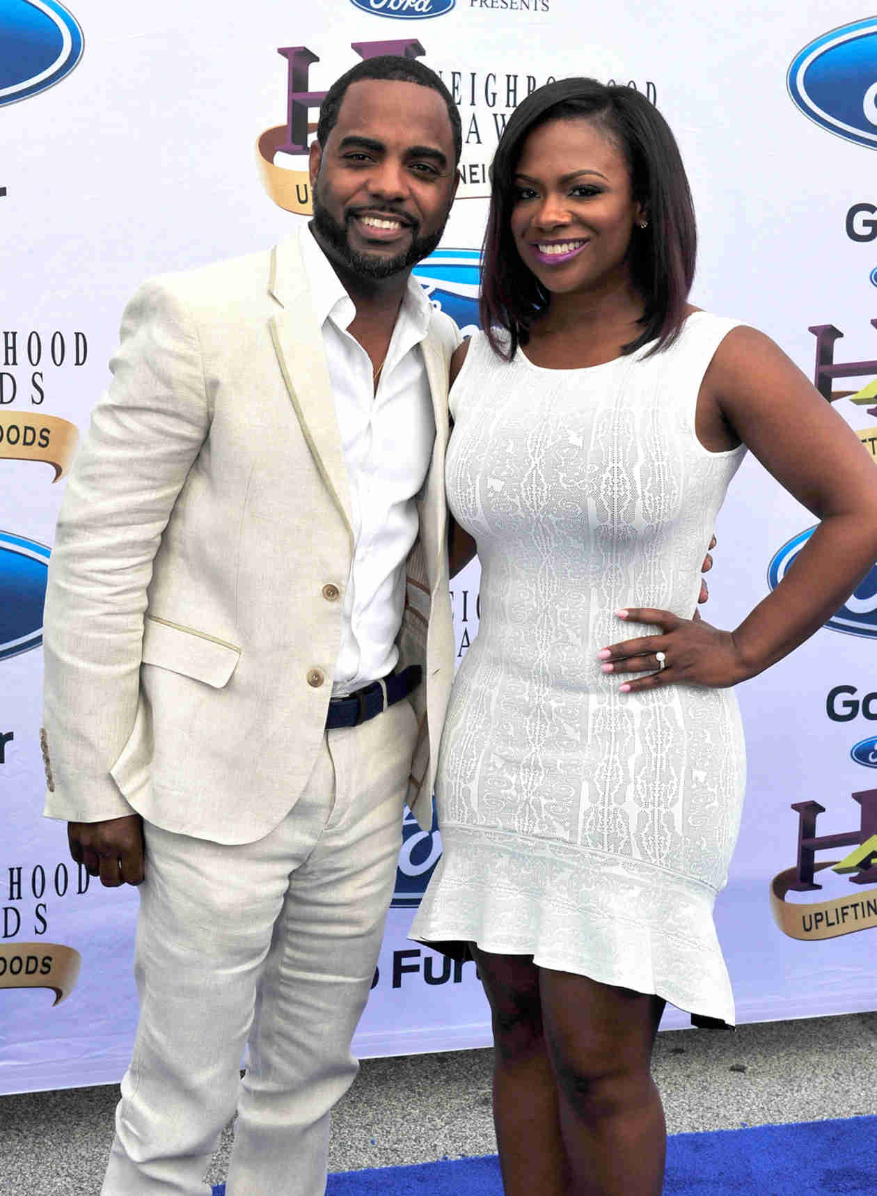 Kandi Burruss and Todd Tucker Wear Matching Outfits to 2014 Ford Neighborhood Awards (PHOTO)