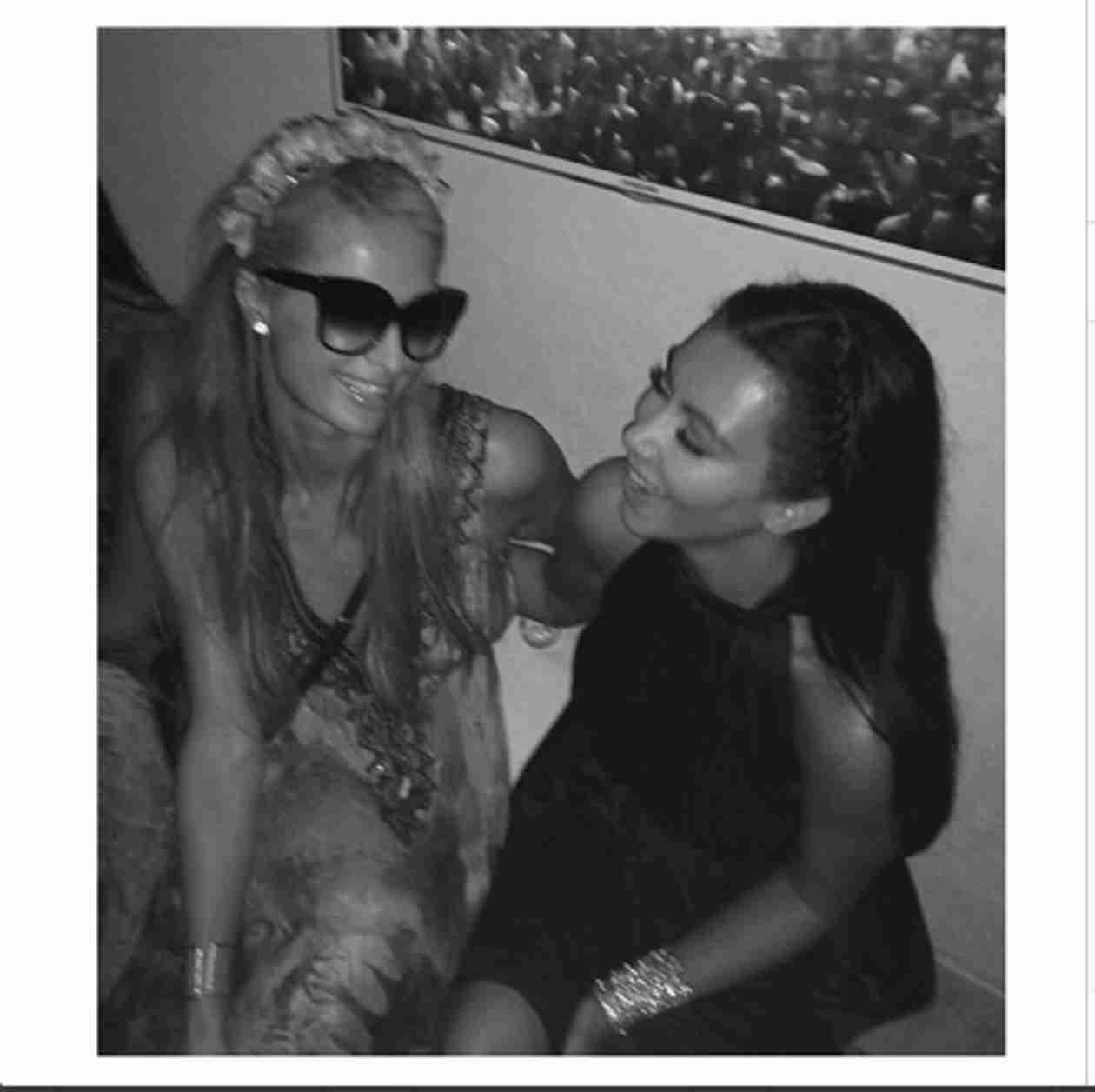 Kim Kardashian Posts Cute Pic of Herself With Paris Hilton — Feud Over? (VIDEO)