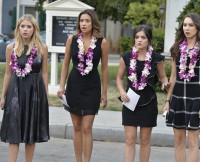 ASHLEY BENSON, SHAY MITCHELL, LUCY HALE, TROIAN BELLISARIO
