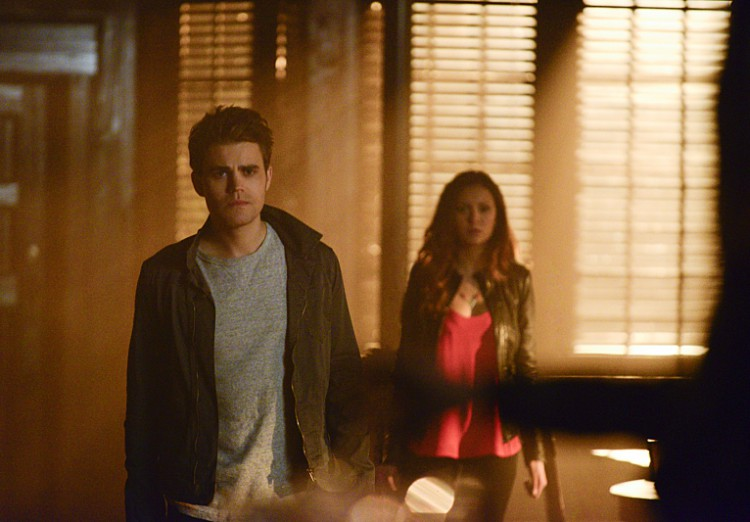 "Stefan and Elena in Season 6, Episode 16 (""The Downward Spiral"")"