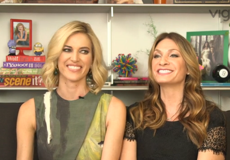Kristen Taekman and Heather Thomson in the Wetpaint Offices