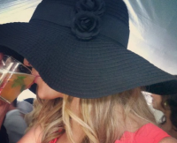 Whitney Bischoff at the Kentucky Derby