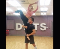 Chris Soules and Witney Carson Practice For DWTS