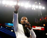 Jamie Foxx at Floyd Mayweather Jr. v Manny Pacquiao