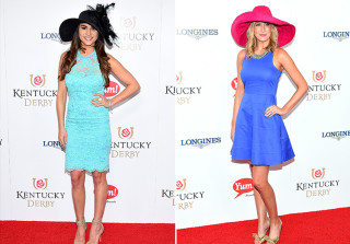 Andi Dorfman and Whitney Bischoff at the Kentucky Derby in Louisville, Kentucky on May 2, 2015