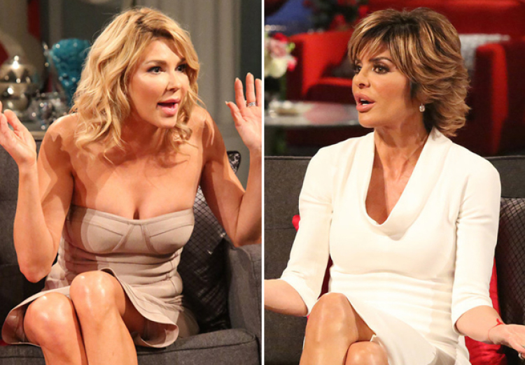 Brandi Glanville and Lisa Rinna at the RHOBH Season 5 Reunion