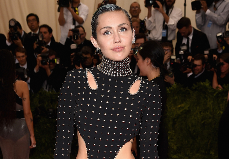 Miley Cyrus at the 2015 Met Gala in New York City on May 4, 2015