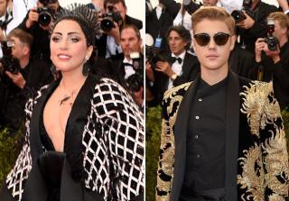 Lady Gaga and Justin Bieber at the 2015 Met Gala