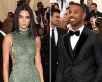 Kendall Jenner and Michael B. Jordan at the 2015 Met Gala