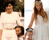 Beyoncé, Her Mom, Celestine Ann, and Blue Ivy