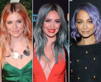Celebrities Pull Off Colorful Hair