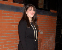 Monica Lewinsky at the It Girls Premiere in New York City on April 2, 2002