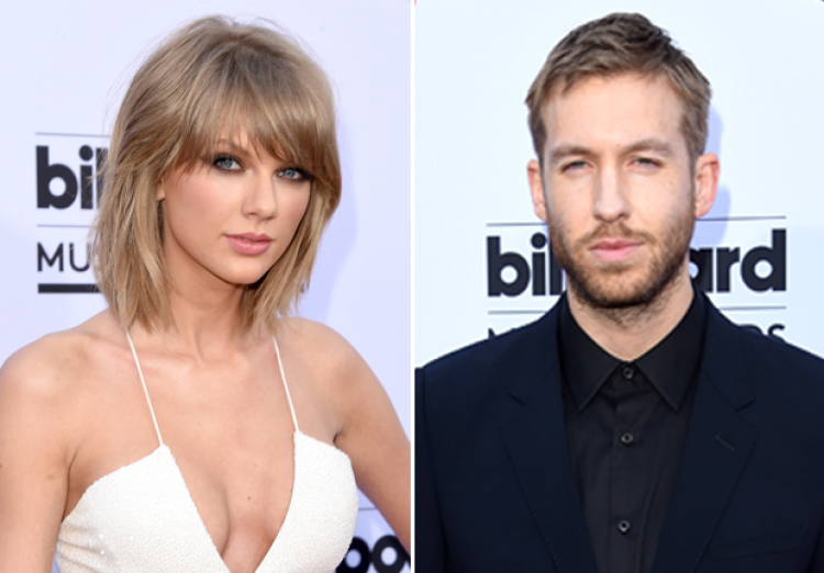 Taylor Swift and Calvin Harris at the 2015 Billboard Music Awards on May 17, 2015
